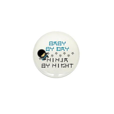 Baby Ninja Blue Mini Button (10 pack)