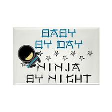 Baby Ninja Blue Rectangle Magnet (10 pack)