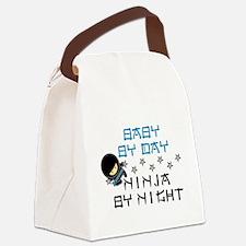 Baby Ninja Blue Canvas Lunch Bag