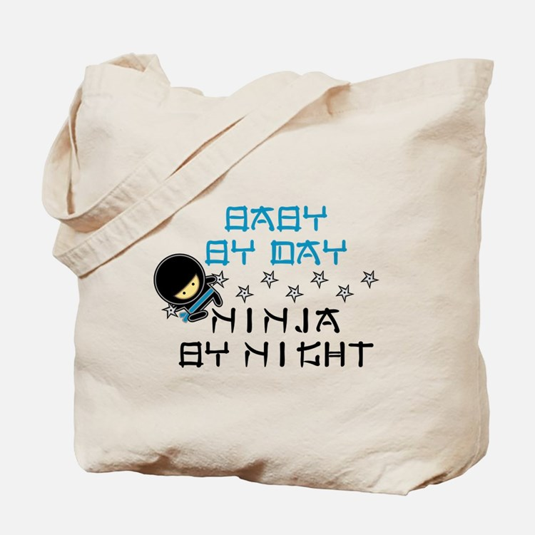 Baby Ninja Blue Tote Bag
