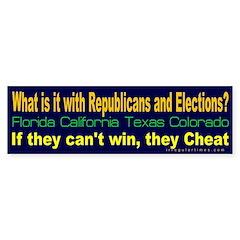 Republicans and Elections Bumper Bumper Sticker