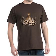 Brown Octopus T-Shirt