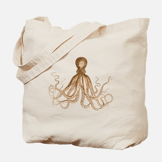 Brown Octopus Tote Bag