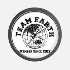 Team Earth : Member Since 2012 Wall Clock