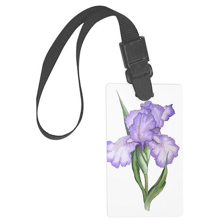 The Purple Iris Large Luggage Tag