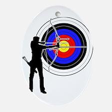 archery man Ornament (Oval)
