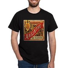 Absinthe Suisse Black T-Shirt