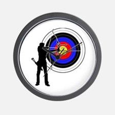 archery man Wall Clock