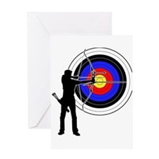 archery man Greeting Card