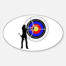 archery man Decal