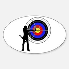 archery man Sticker (Oval)