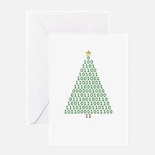 Binary Merry Christmas Greeting Card