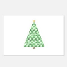 Binary Merry Christmas Postcards (Package of 8)