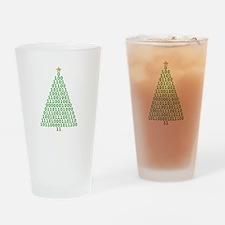 Binary Merry Christmas Drinking Glass