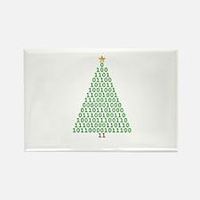 Binary Merry Christmas Rectangle Magnet