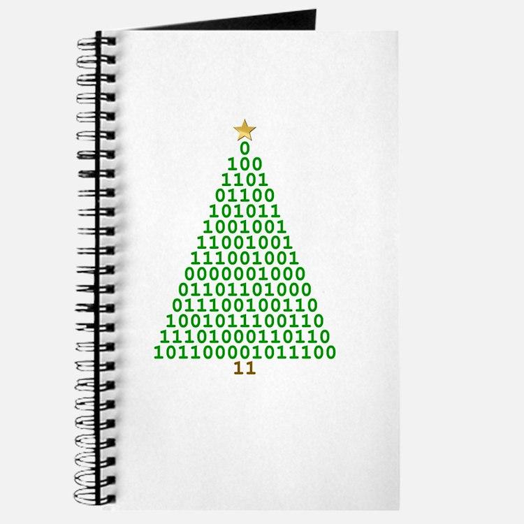 Binary Merry Christmas Journal