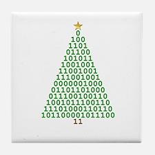 Binary Merry Christmas Tile Coaster
