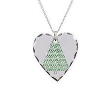 Binary Merry Christmas Necklace Heart Charm