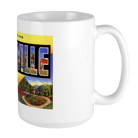 Knoxville Tennessee Greetings Large Mug
