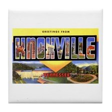 Knoxville Tennessee Greetings Tile Coaster