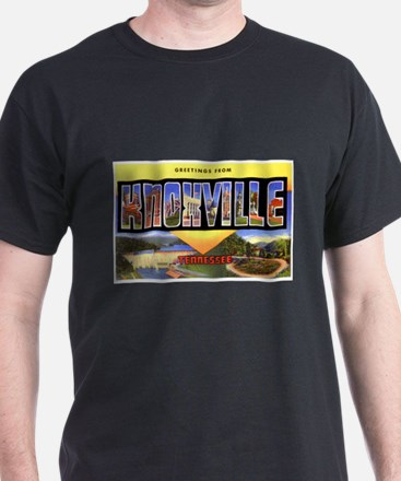 Knoxville Tennessee Greetings (Front) Black T-Shir