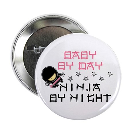 "Baby Ninja Pink 2.25"" Button (10 pack)"