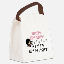 Baby Ninja Pink Canvas Lunch Bag