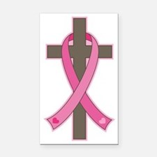 Breast Cancer Cross Rectangle Car Magnet