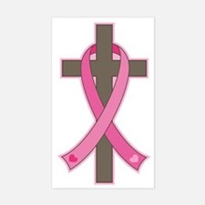 Breast Cancer Cross Decal