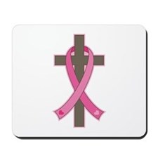 Breast Cancer Cross Mousepad