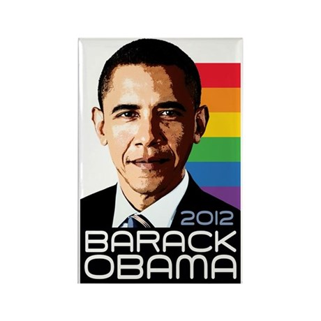 Obama Pride Rainbow Rectangle Magnet