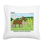 Trojan Horse Square Canvas Pillow