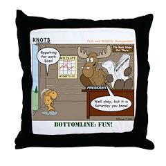 Wildlife Management Throw Pillow