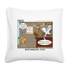 Wildlife Management Square Canvas Pillow