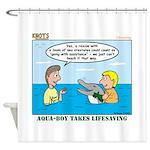 Lifesaving Shower Curtain