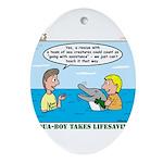 Lifesaving Ornament (Oval)