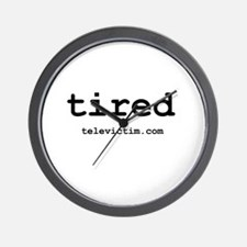 """tired"" Wall Clock"