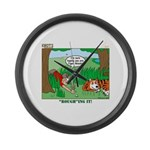 Golf Large Wall Clock