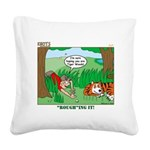 Golf Square Canvas Pillow