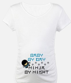 Baby Ninja Blue Maternity Dark T-Shirt