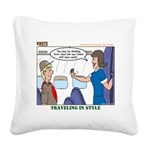First Class Square Canvas Pillow