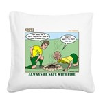 Fire Safety Square Canvas Pillow