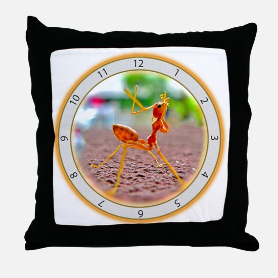 Red Ant Heads Up Throw Pillow