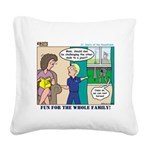 Knights Square Canvas Pillow