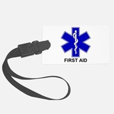 Blue Star of Life - First Aid.png Luggage Tag