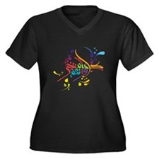 Eid T-shirts and gifts Women's Plus Size V-Neck Da