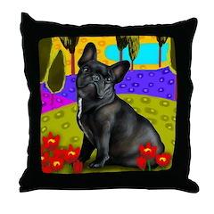 FRENCH BULLDOG DOG Throw Pillow