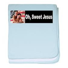 Oh, Sweet Jesus baby blanket
