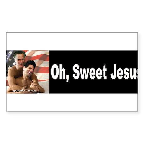 Oh, Sweet Jesus Sticker (Rectangle)