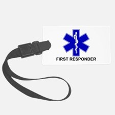 Blue Star of Life - FIRST RESPONDER.png Luggage Tag